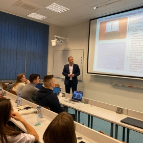 Lecture of Bohumil Vrablik on doing business in Russia