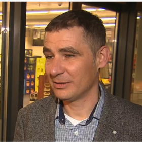 Petr Král's TV appearance on the topic of local food production